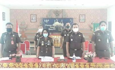 Video Conference Kunjungan Kerja Jaksa Agung Republik Indonesia